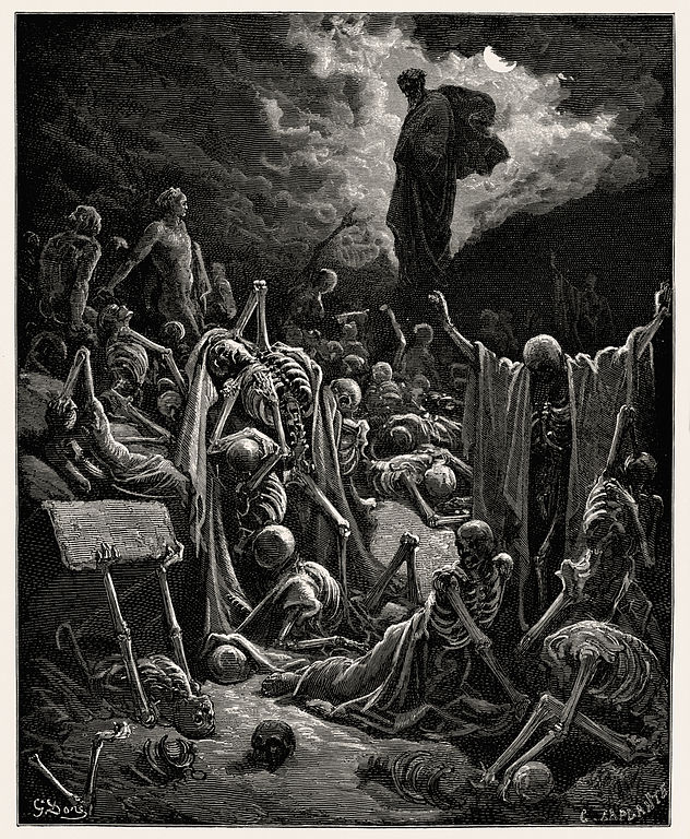"""The Vision of The Valley of The Dry Bones"", Gustave Doré, 1866"