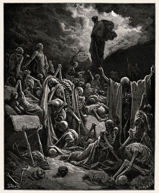 """""""The Vision of The Valley of The Dry Bones"""", Gustave Doré, 1866"""