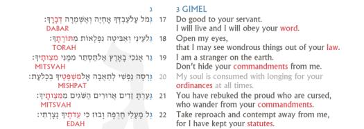 Psalm 119 Screenshot