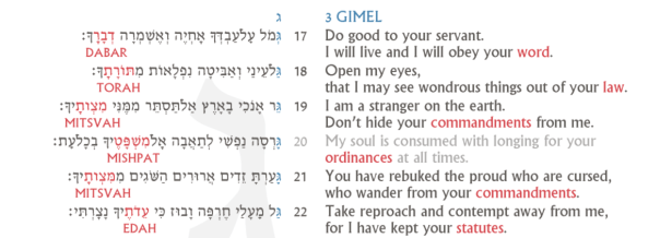 Psalm 119 Screenshot