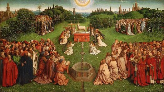 Adoration of the Mystic Lamb, Jan van Eyck, c. 1390-1441