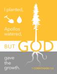 1 Corinthians 3:6