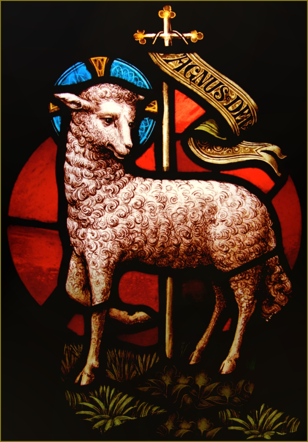 Lamb of God Stained Glass