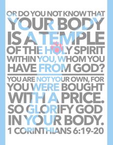 Memory Verse 1 Cor 6.19-20