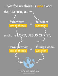 Memory Verse 1 Cor 8.6