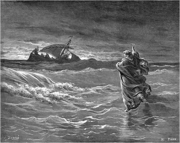 Gustave Dore, Jesus Walks on the Sea, c 1866